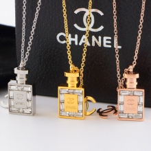Chanel diamond necklace perfume bottle necklace
