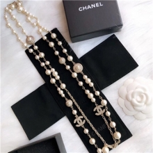 chanel long necklace pear