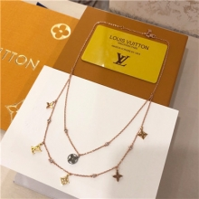 Lv multi necklace stainle